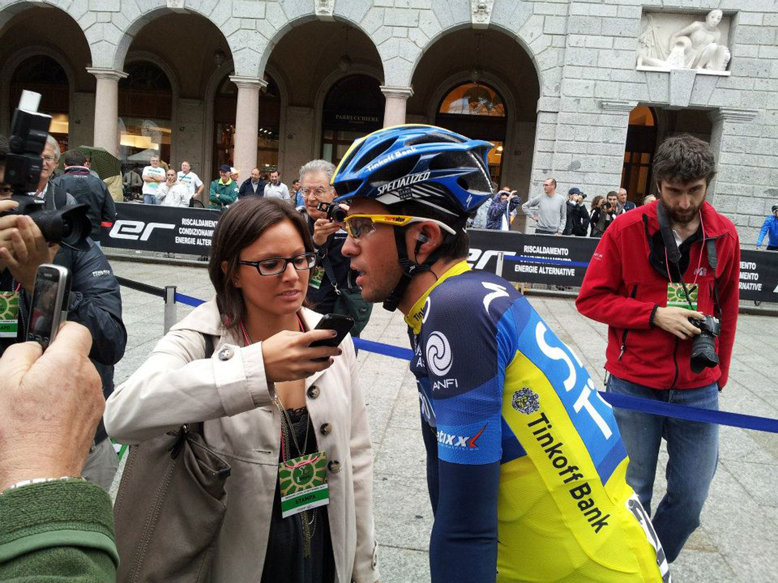 Giulia De Maio Alberto Contador Lombardia ciclismo