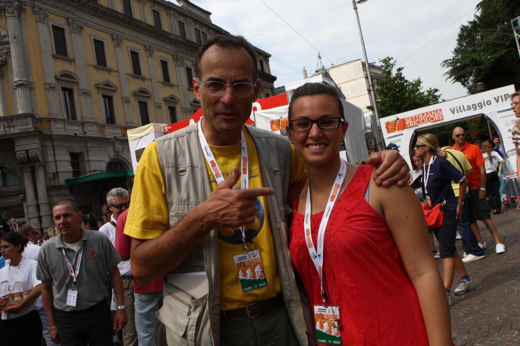 Con Marco Pastonesi, Campionati Italiani 2010