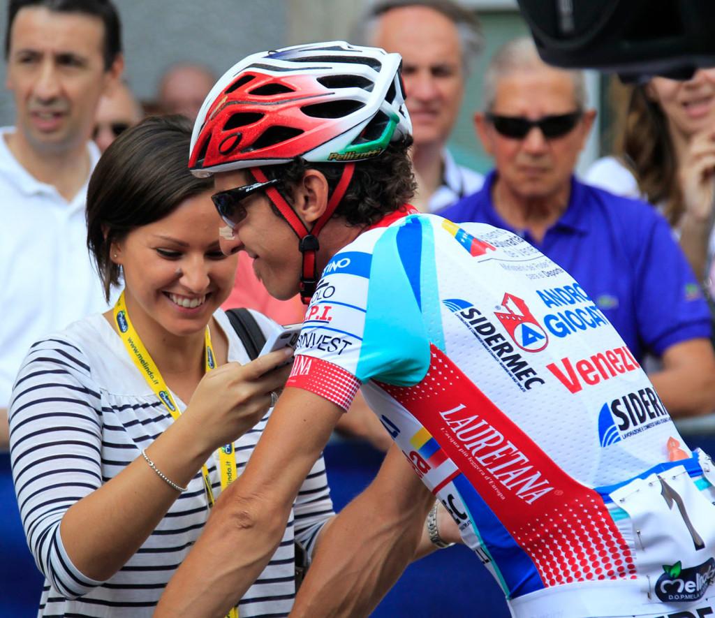 Giulia De Maio Con Franco Pellizotti Italiano Trentino 2014