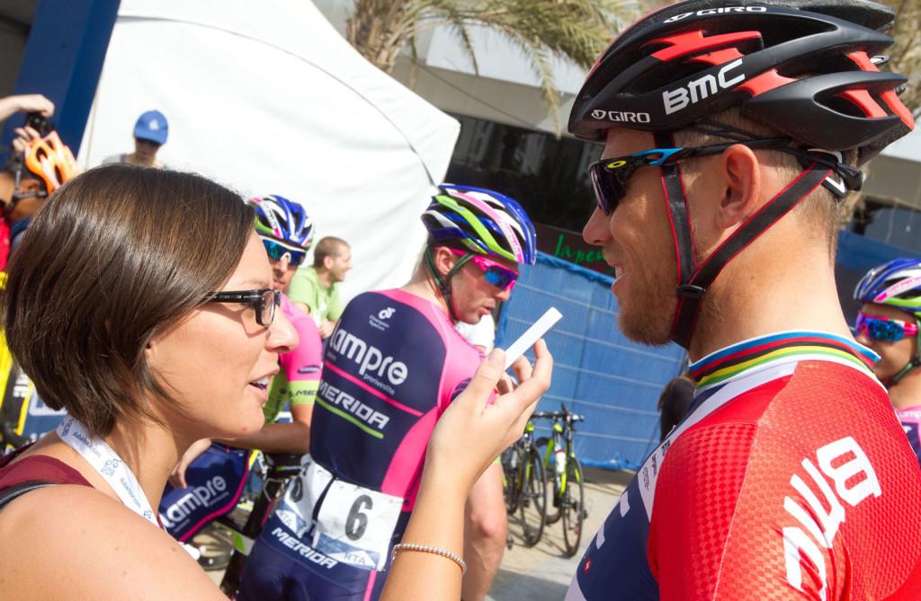 Giulia De Maio, Thor Hushovd, Dubai 2014