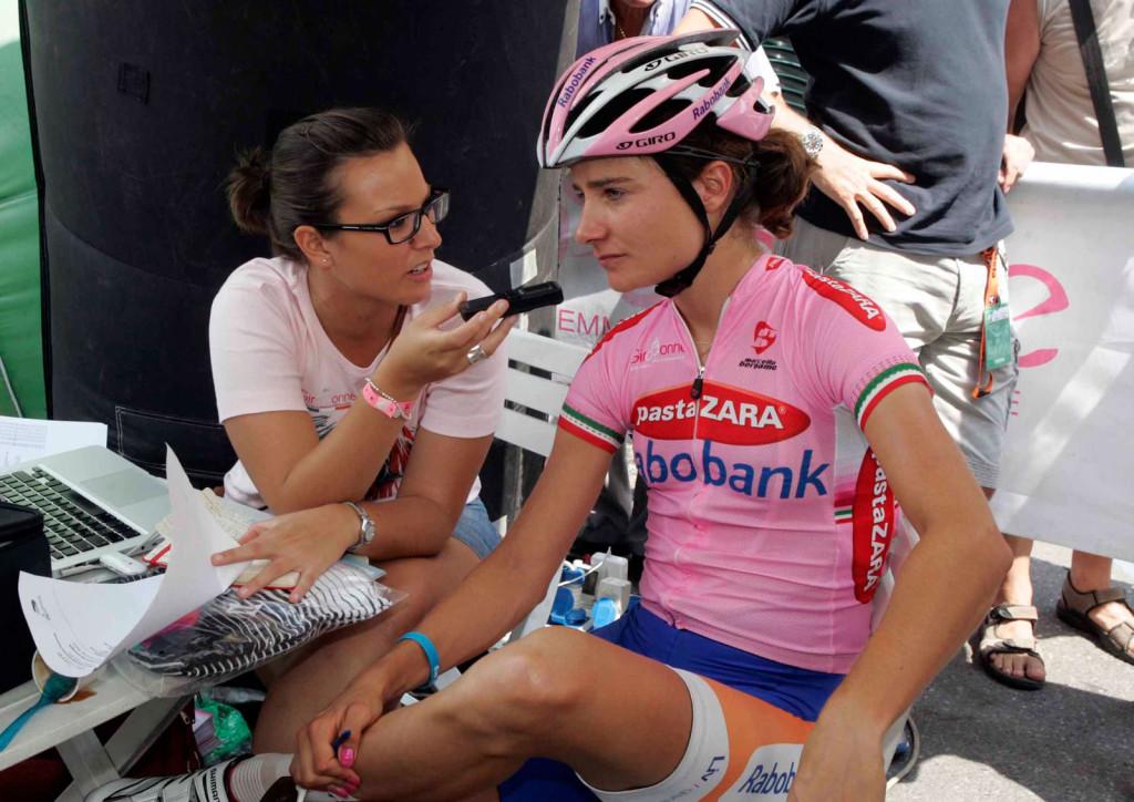 Giulia De Maio Marianne Vos, Giro Rosa 2012
